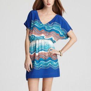 Trina Turk Agate Swirl Caspian Blue Silk Dress 2